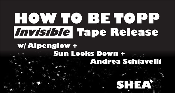 Alpenglow, How To Be Topp, Sun Looks Down & Andrea Schiavelli