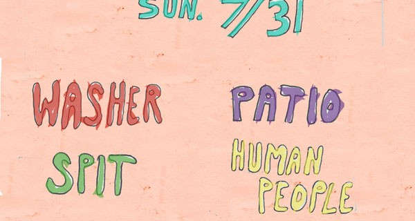 Washer, Patio, Spit & Human People